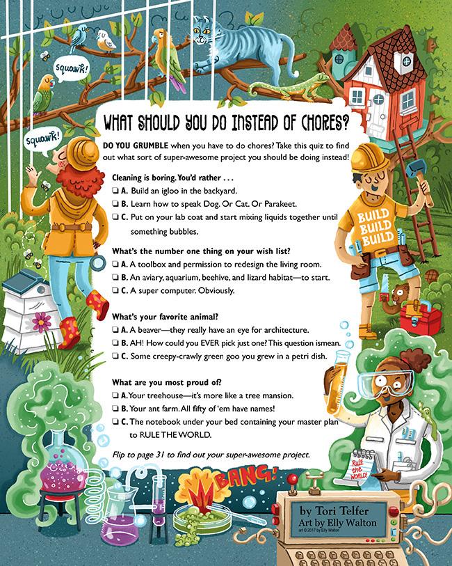 Spider Magazine: Kidu0027s Quiz On Behance