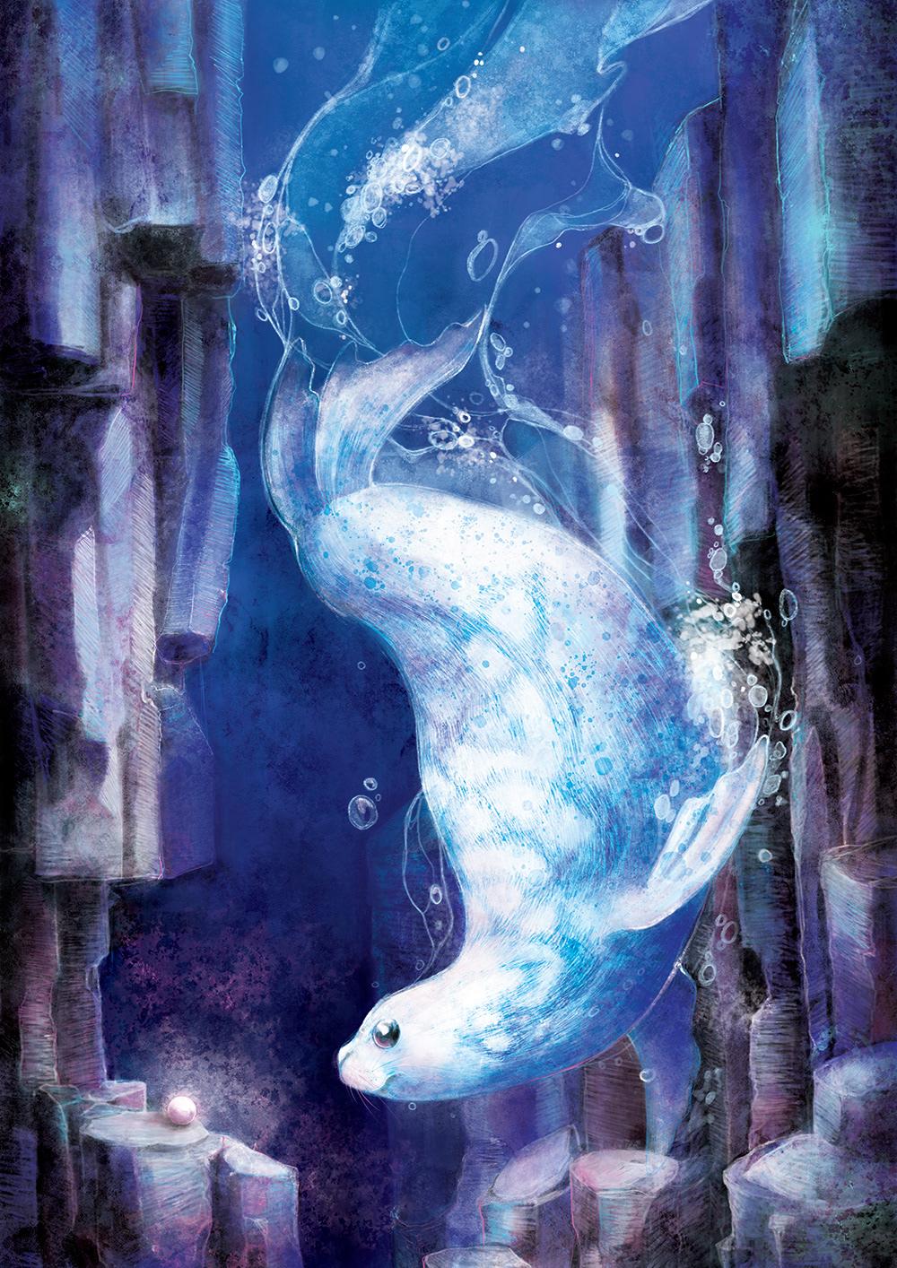 childrens book ILLUSTRATION  Magic   narrative scotland seal Selkie story