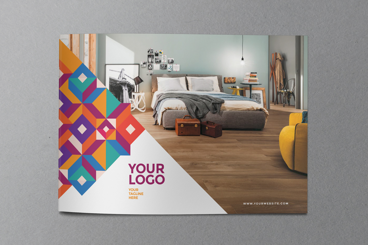 colorful cool pattern brochure on behance