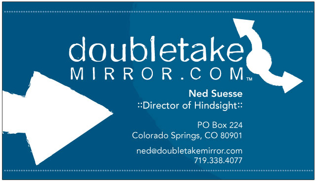 Longnamedgirl design doubletakemirror business cards business card design for a colorado company that makes multifunctional mirrors for off road motorcycling colourmoves