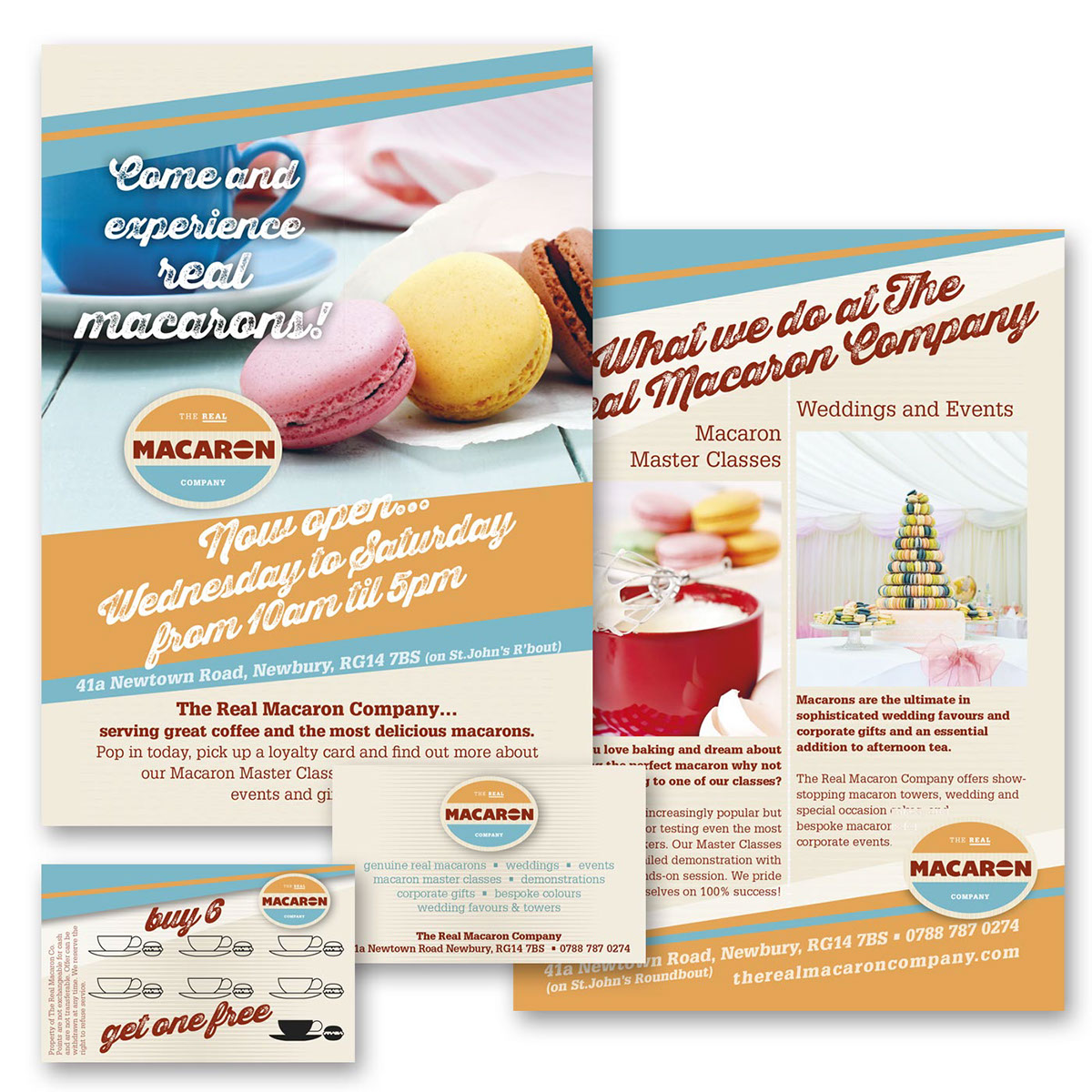 Leaflet & Loyalty Card for The Real Macaron Co  on Behance