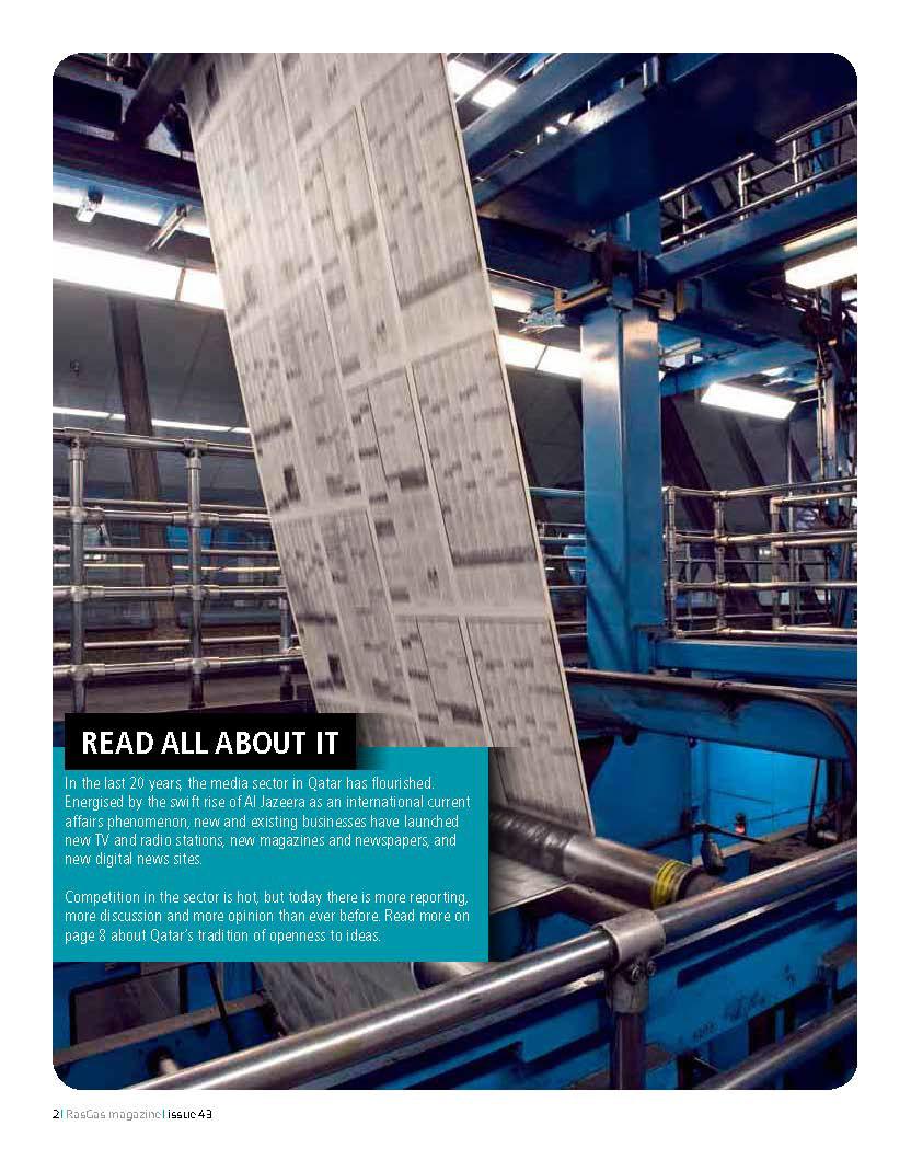 RASGAS Magazine Layout on Behance