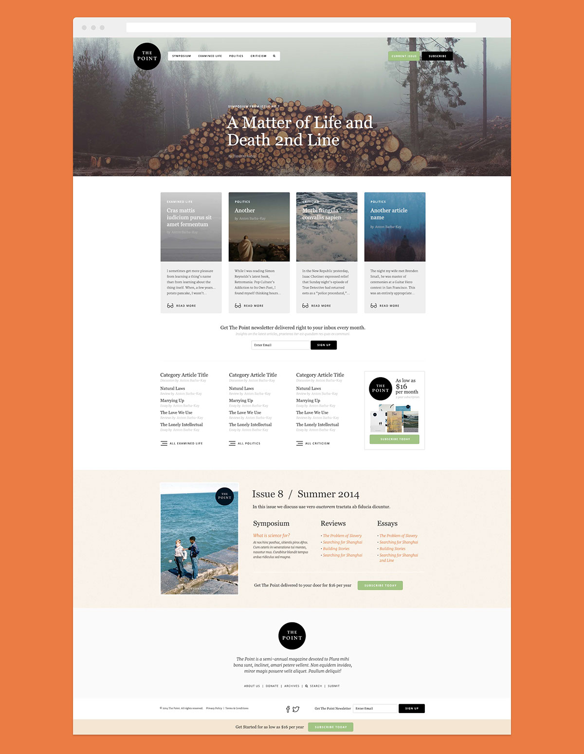 The Point on Behance