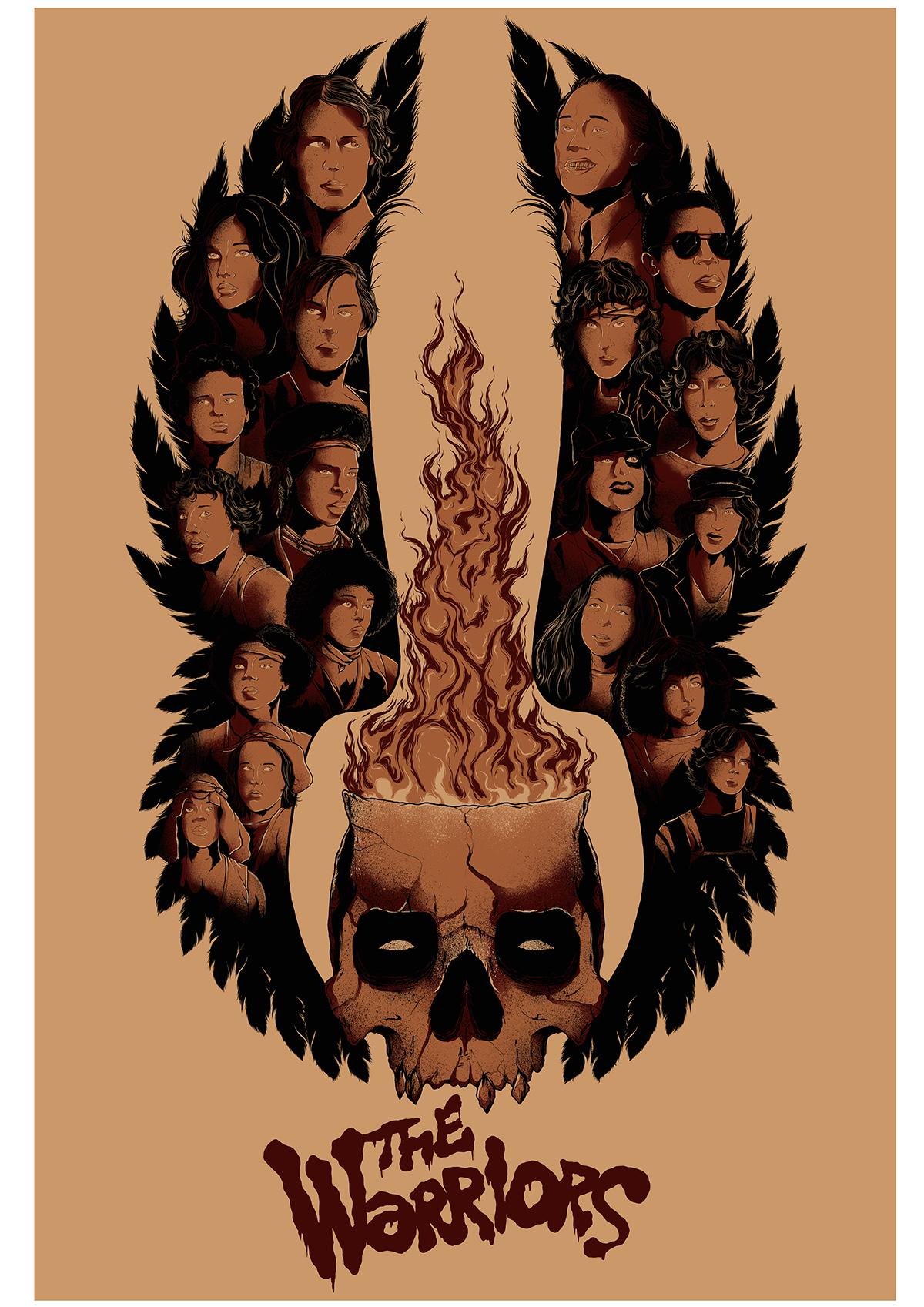 The Warriors (1979) Alternative Movie Poster on Wacom Gallery