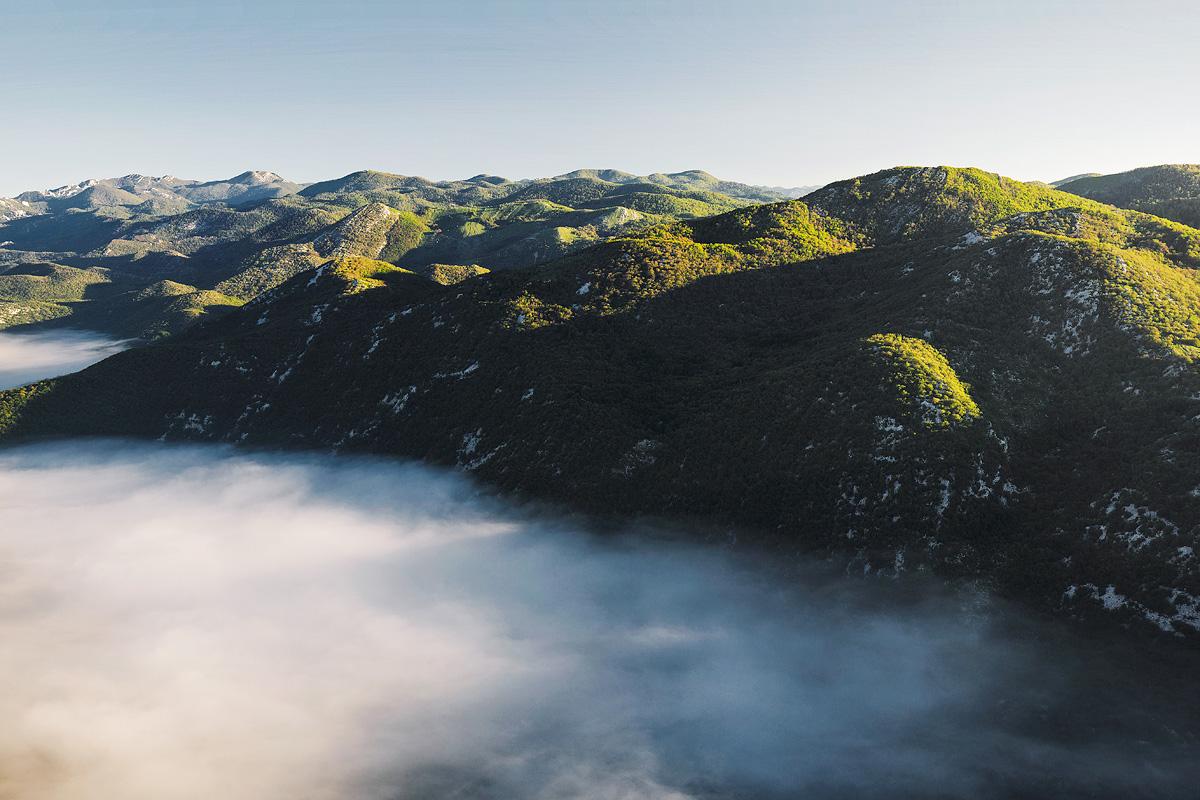Travel summer Sun mountains sea Ocean water green forest Croatia adventure RoadTrip