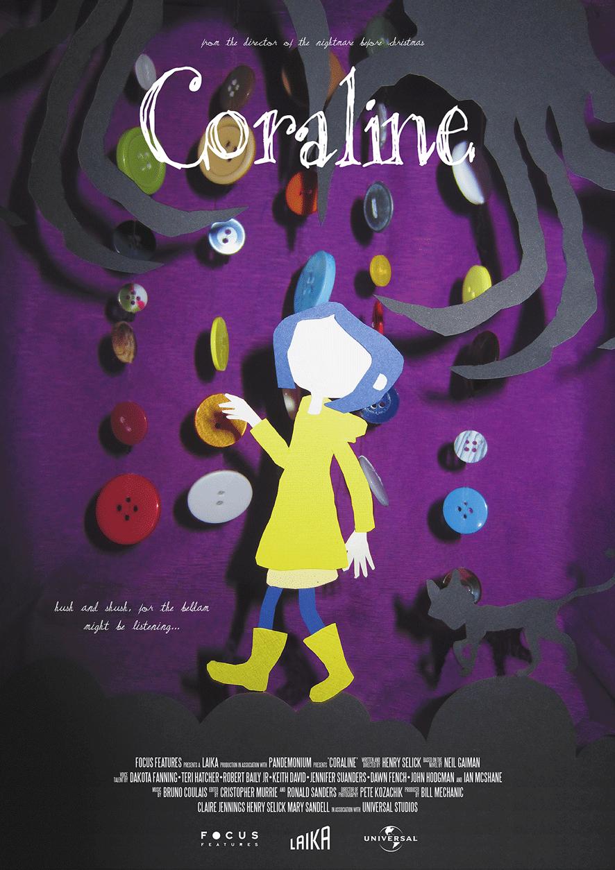 Coraline Movie Poster On Behance
