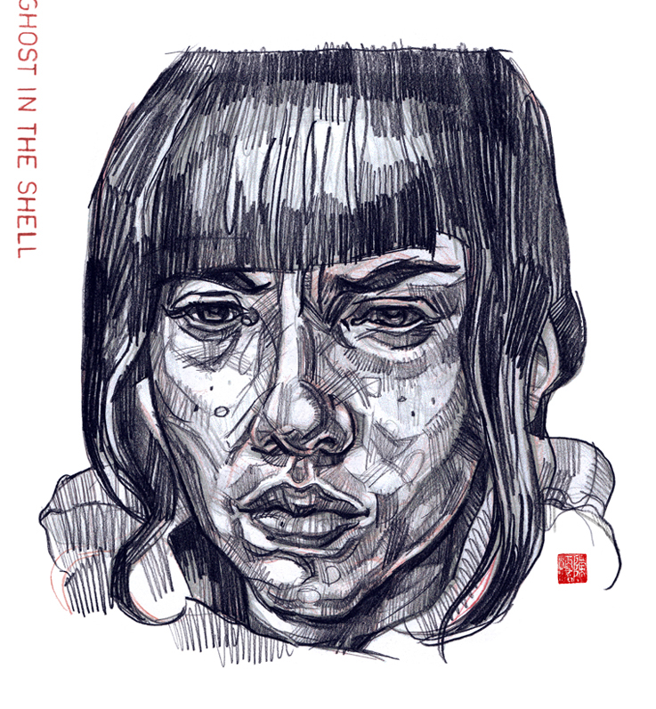 GHOST IN THE SHELL Pencil Drawing On Behance