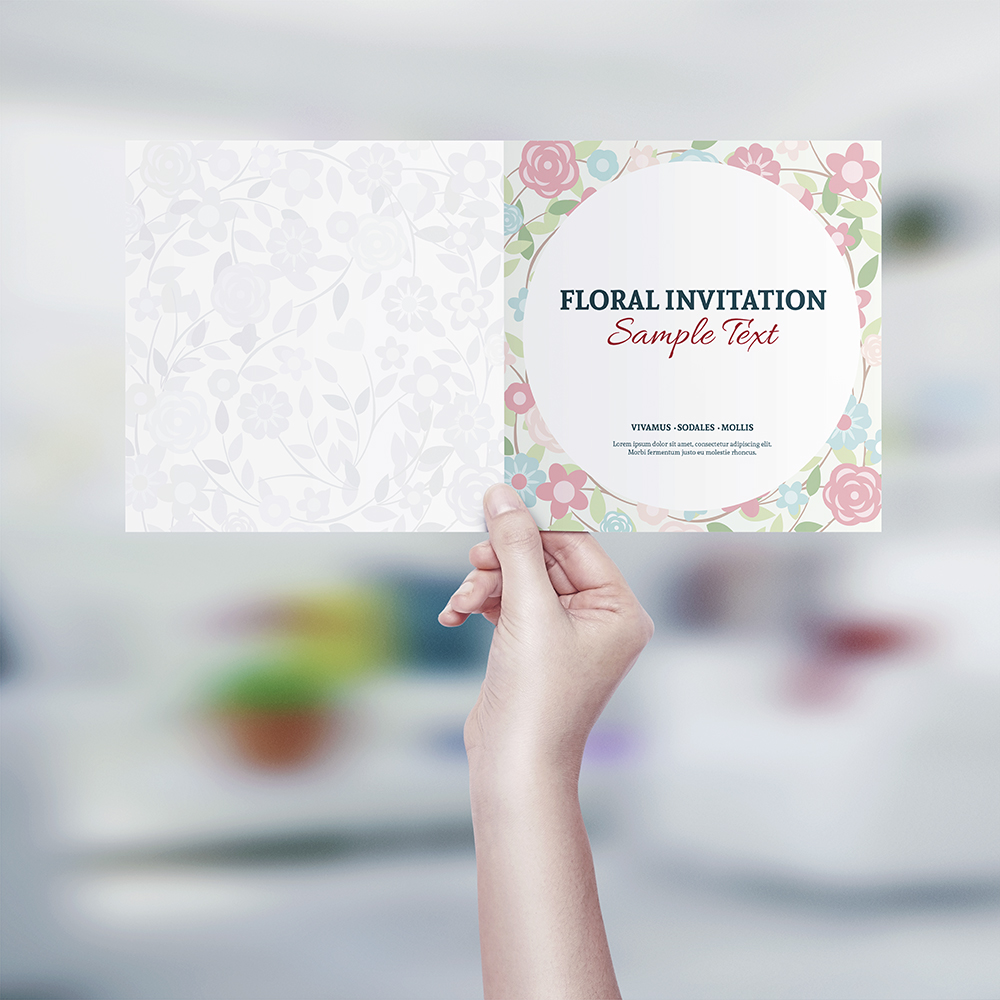 Square invitation greeting card mockup on behance stopboris Image collections
