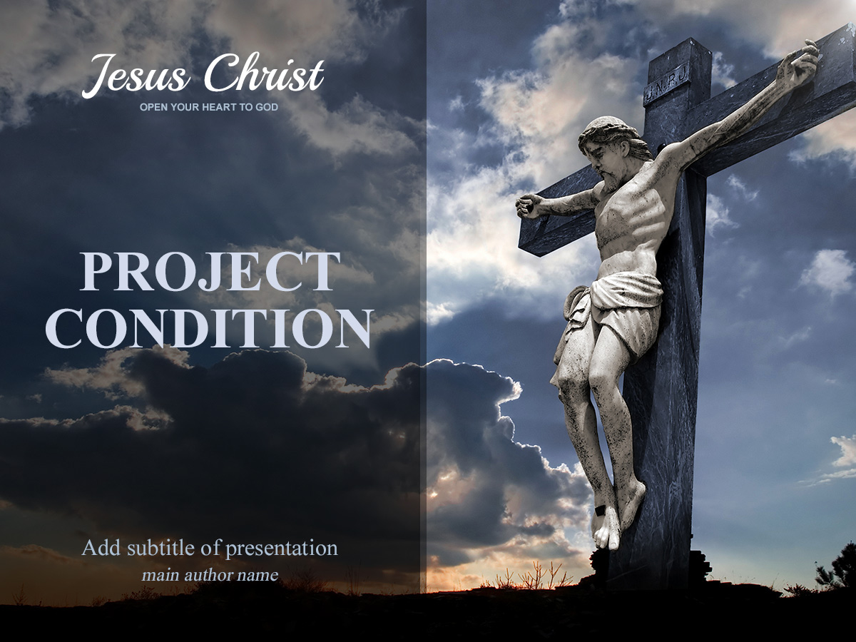 free jesus christ powerpoint presentation template on behance