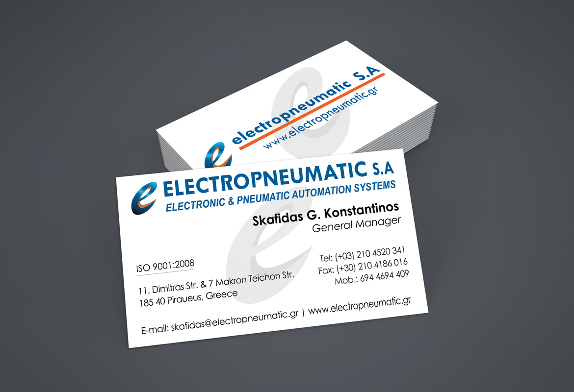 Electropneumatic Sa Business Cards On Behance