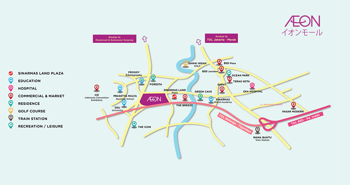 Area Map AEON Mall BSD City on Behance