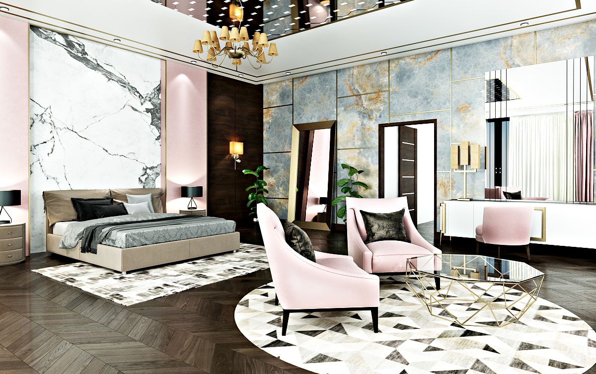 Luxury Girl S Bedroom Interior Design In Kuwait On Behance