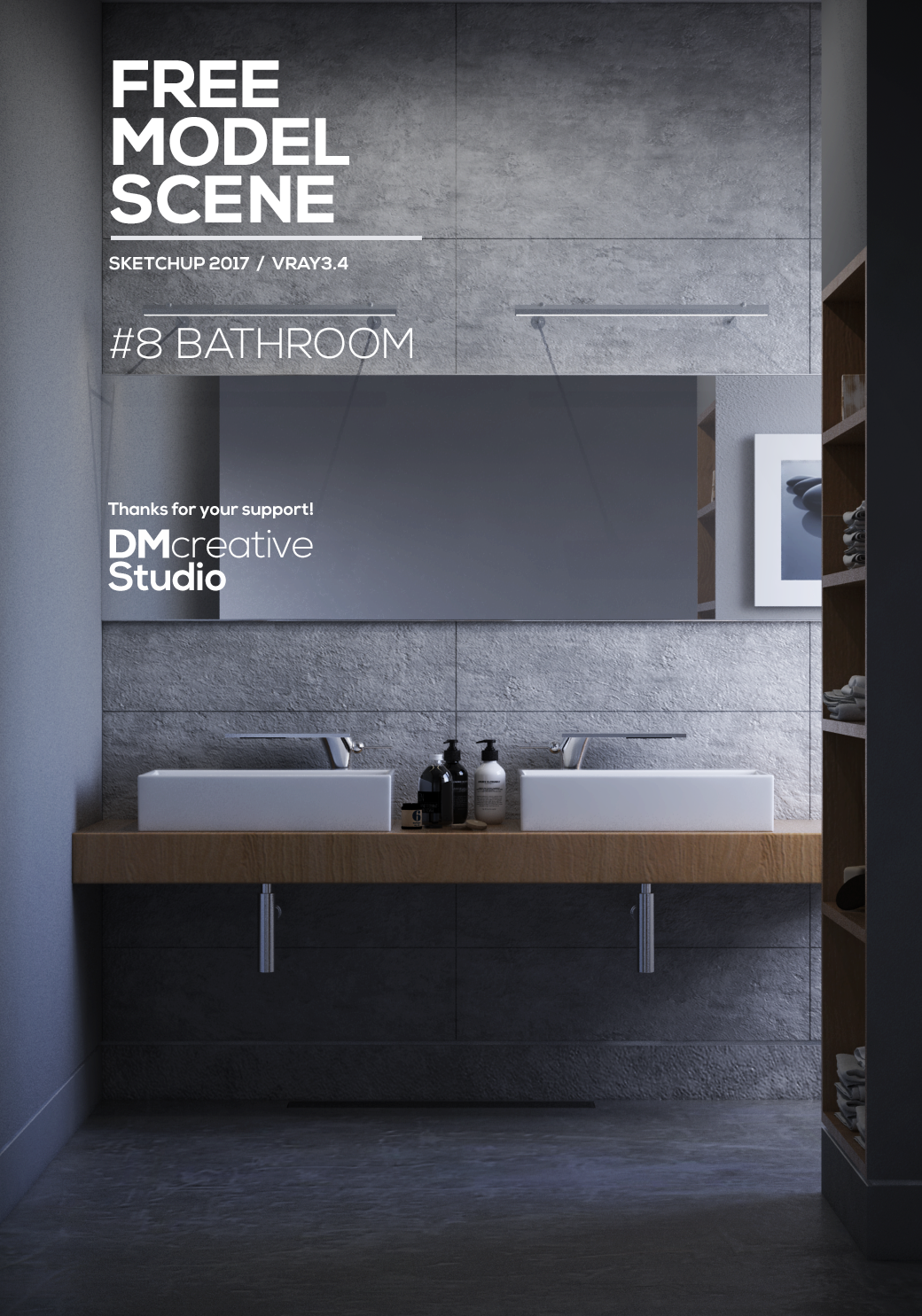 8 FREE MODEL SCENE BATHROOM on Behance