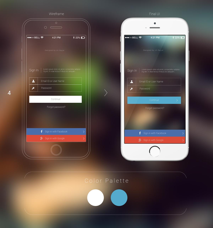 Mobile Login UI Design Options on Behance