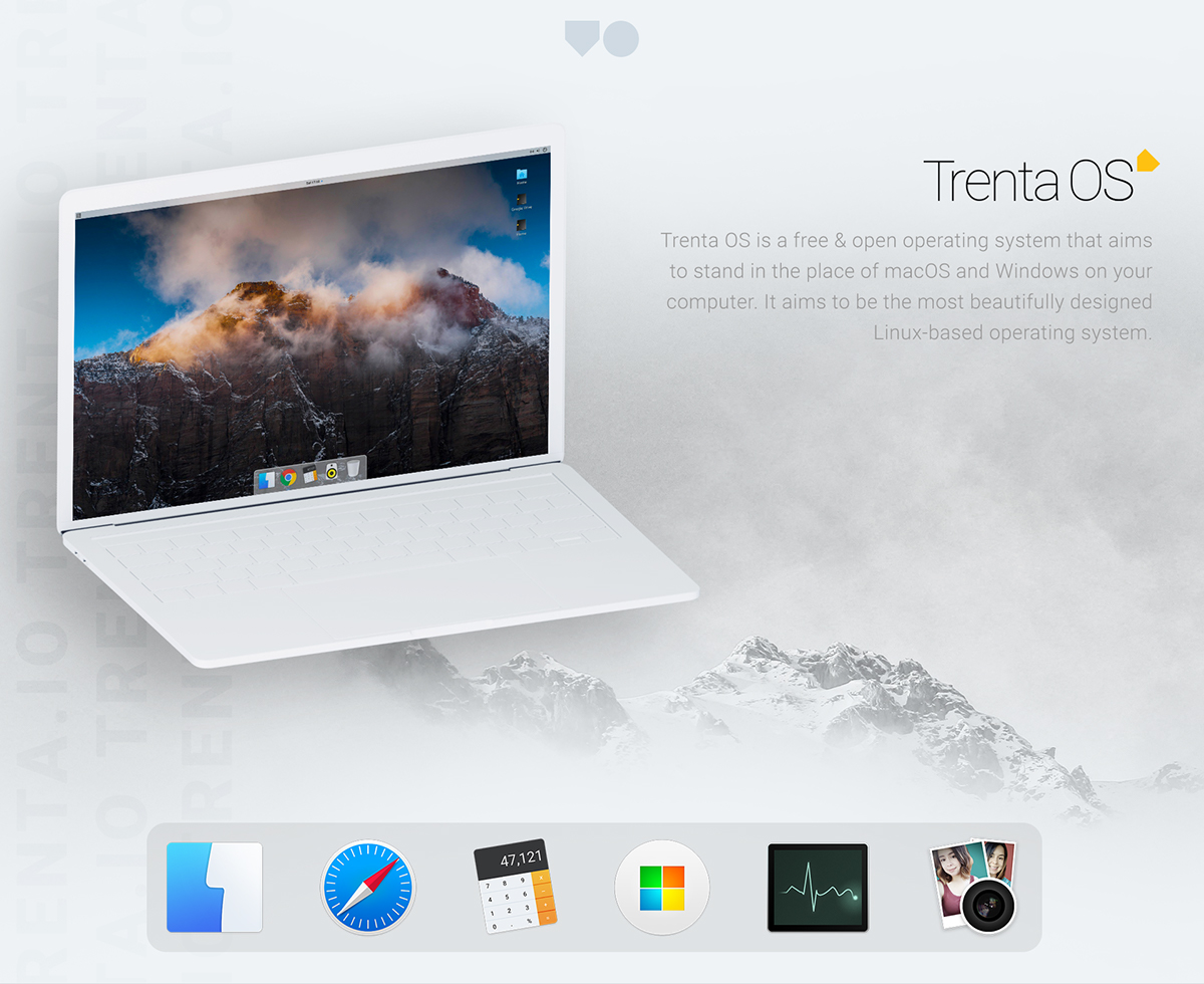 Trenta OS - A Free Operating System for Creatives on Behance