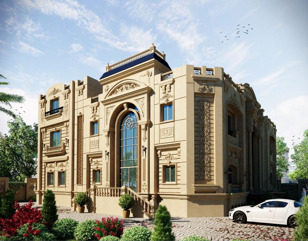 classic villa qatar on behance