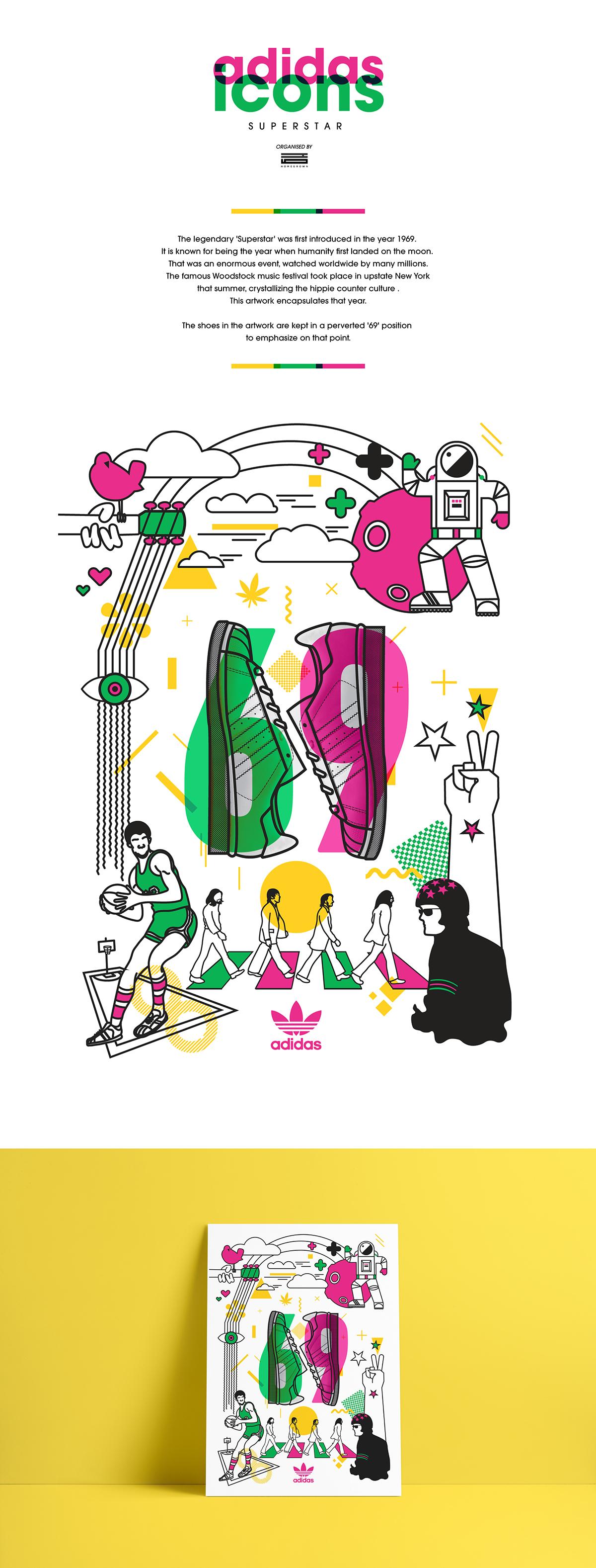 adidas superstar '69' on wacom gallery
