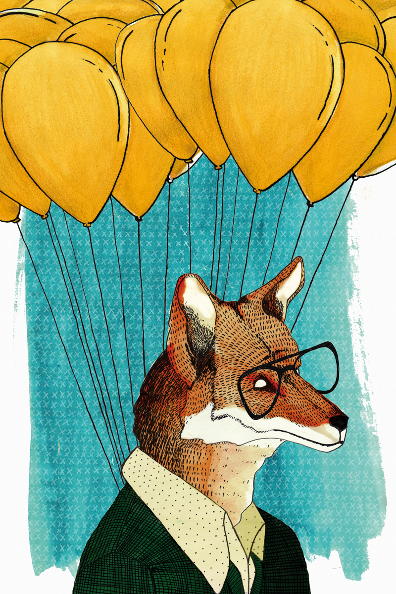 animals balloons glasses pattern colors Flowers Roses ink raccoon portrait Picture