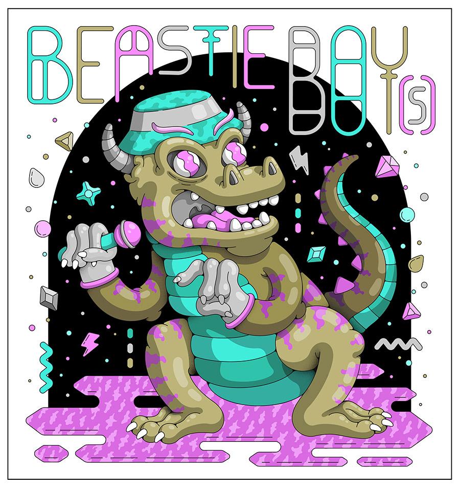 Dinosaur demon beast dragon reptile hip hop BeastieBoys rapper Gems gate