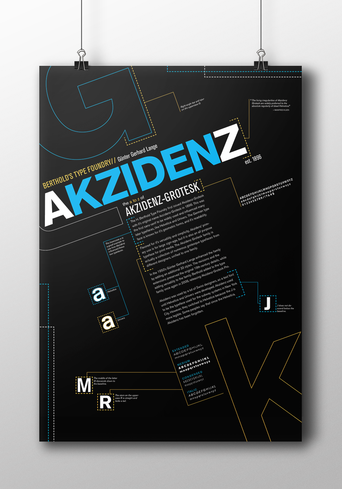 akzidenz Akzidenz Grotesk Typeface poster typeface poster Akzidenz-Grotesk print poster art typefaces posters type poster Akzidenz Happen letters lines