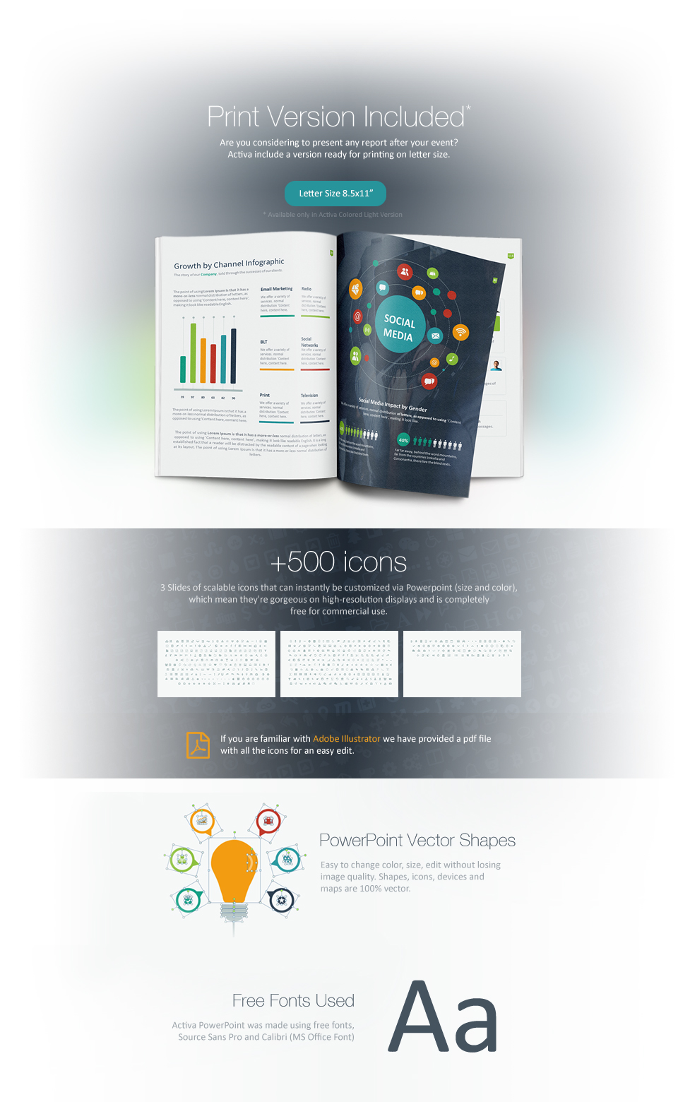 activa powerpoint presentation on behance, Presentation templates