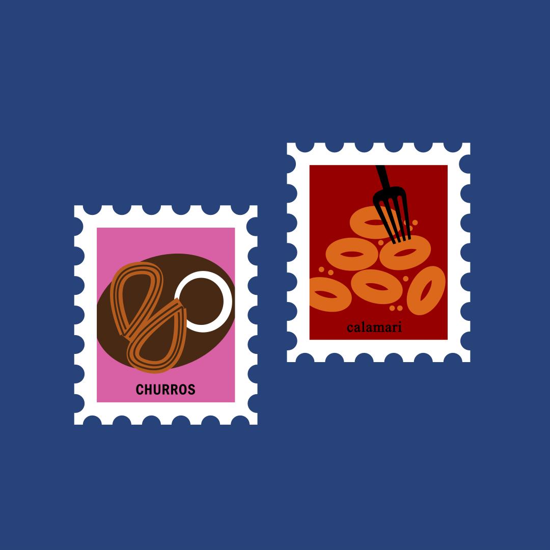 animals Landmark landscapes postage stamps spain stamps