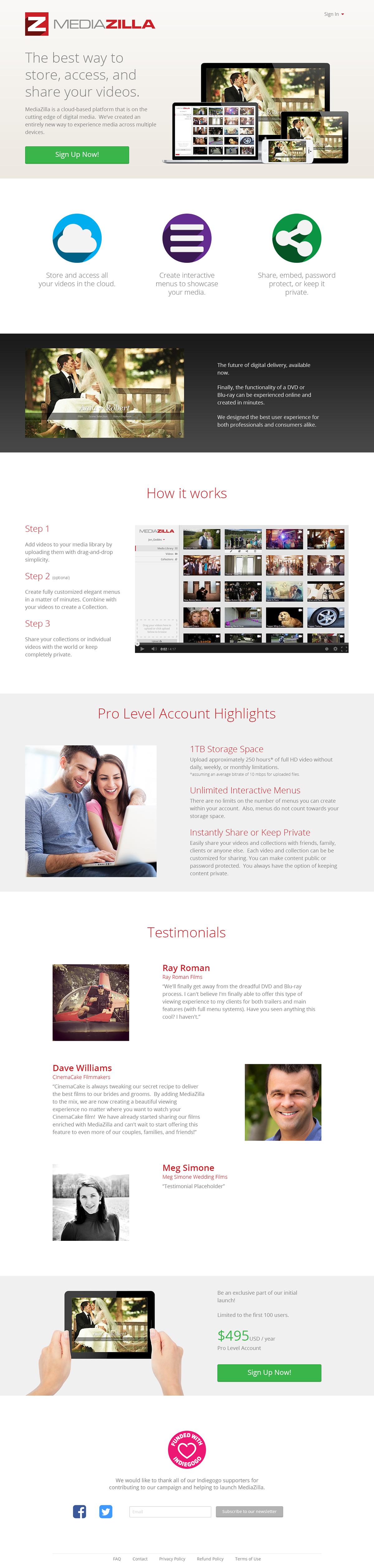 Website Video Editing web app