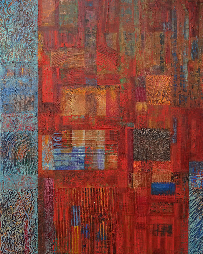 abstract acrylic colorful contemporary FINEART modern Paintings Patterns shapes Unique