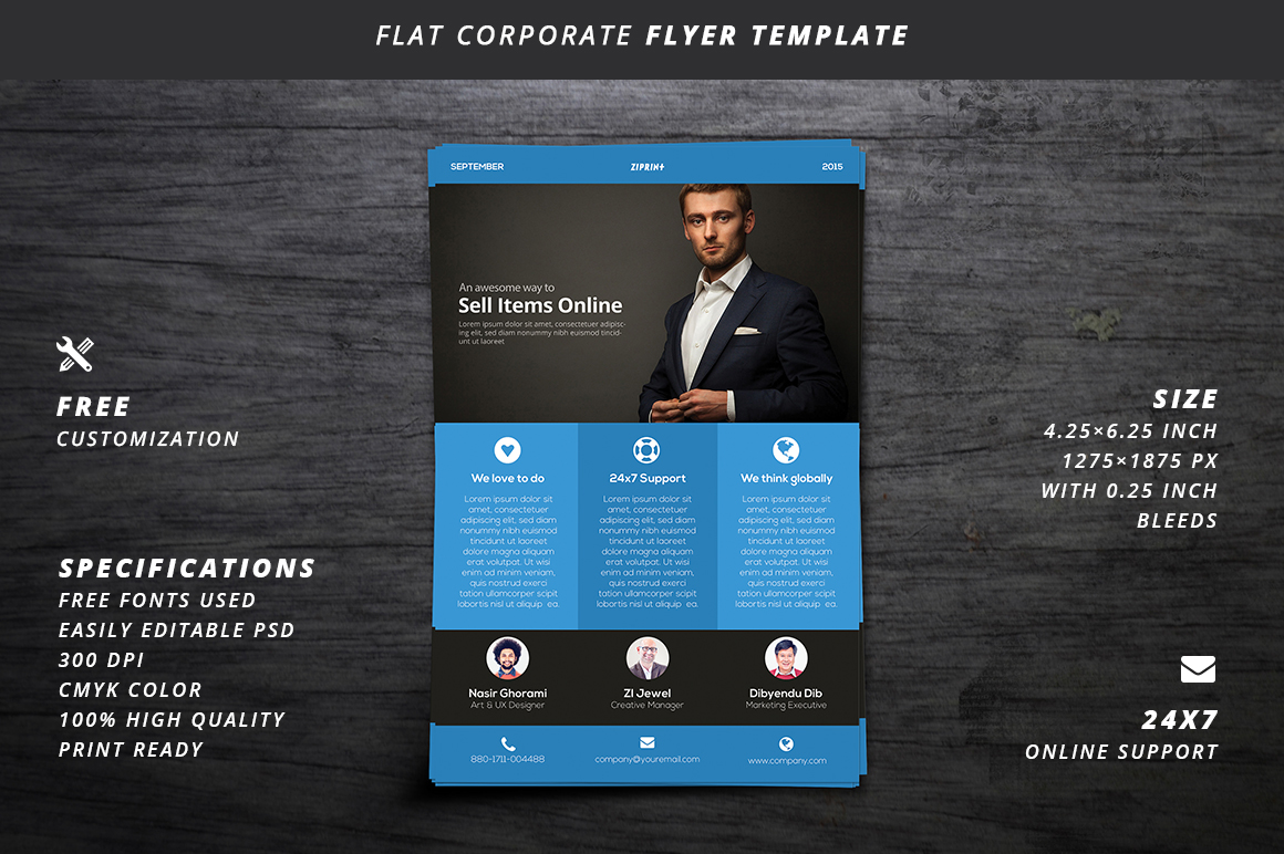 flyer business flyer poster corporate template design psd photoshop free freebie download clean flat minimal