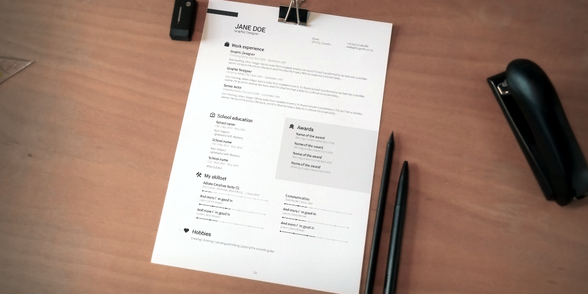 cv  resume  cover letter set v2  word  psd  ai  on behance