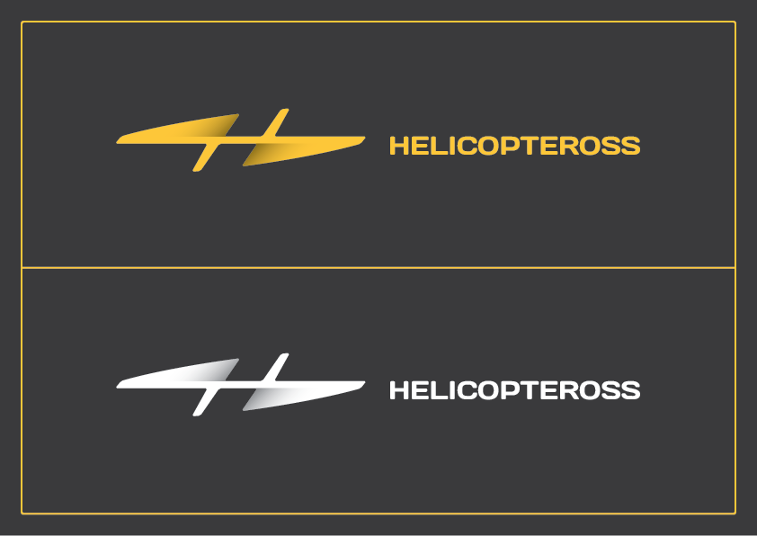 logo rebranding helicopter