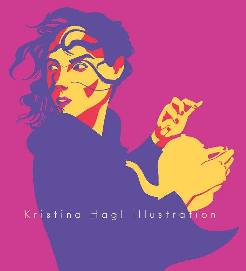ILLUSTRATION  cover illustration Editorial Illustration Coffee Kaffee anne kaffeekanne people illustration woman portrait Minimalism minimalismus