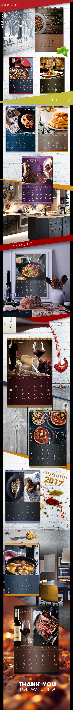 graphic design  calendar printing industry Food