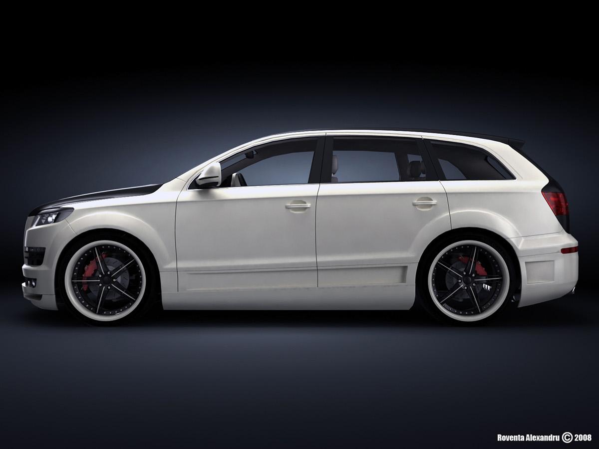 Audi Q7 ruver Audi design automotive   3ds max 3d max vray Render car 3D Vehicle Auto tuning
