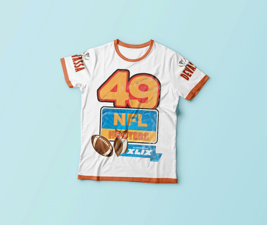 Camiseta Super Bowl Hooters