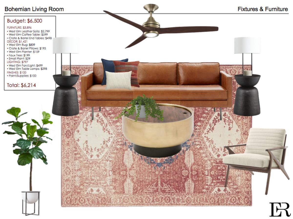 Bohemian Living Room On Philau Portfolios