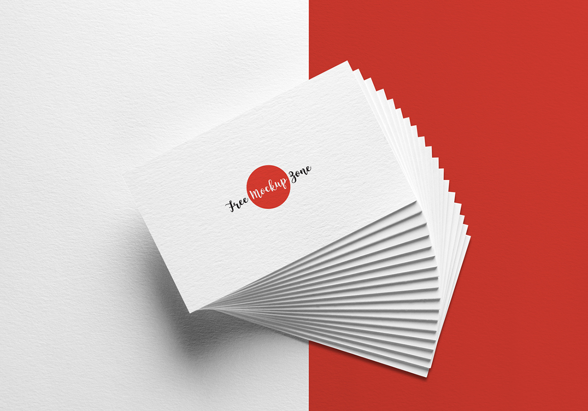 Free elegant business card mockup on texture background on behance reheart Image collections