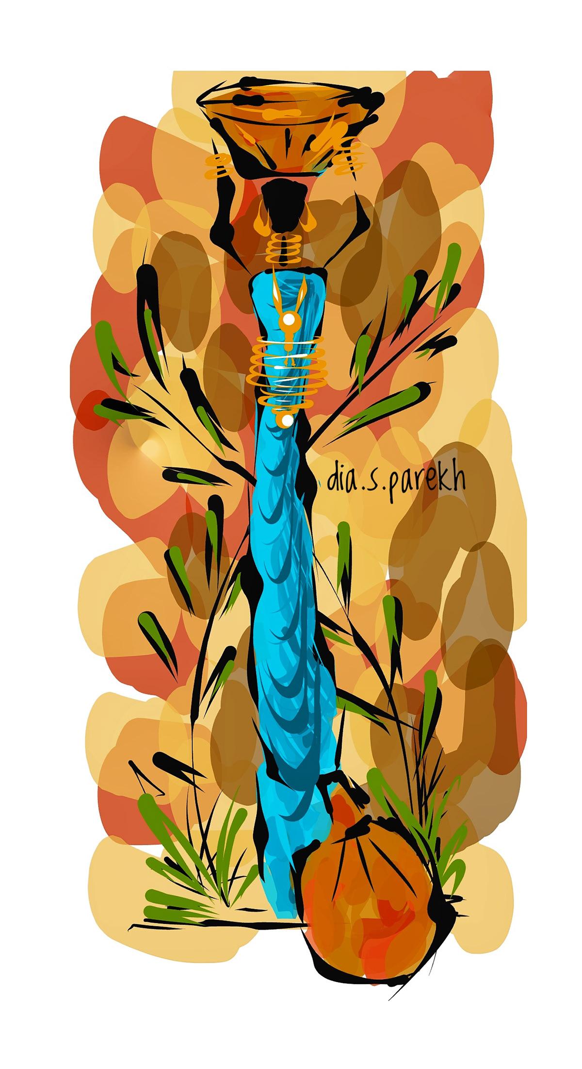 #art #artist  #digitalartwork #graphics #illustrator #illustration #african #blacklivesmatter #tribalart
