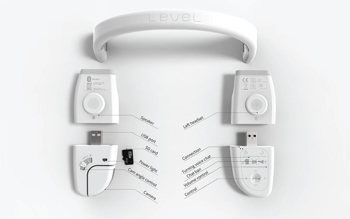 headset. cam