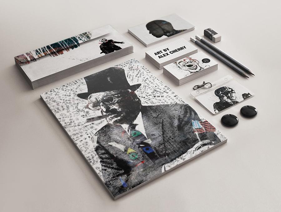 corporate elegant folder identity brand branding  ID business mockups mock-ups