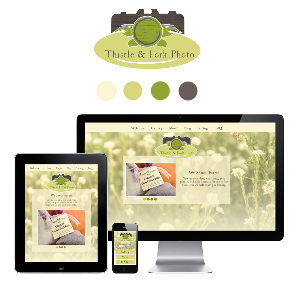 Thistle + Fork photographer organic Responsive portfolio gallery