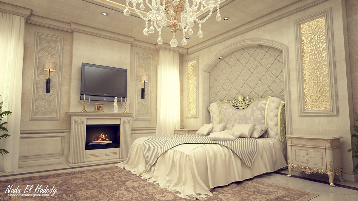 English Classic Bedroom On Behance