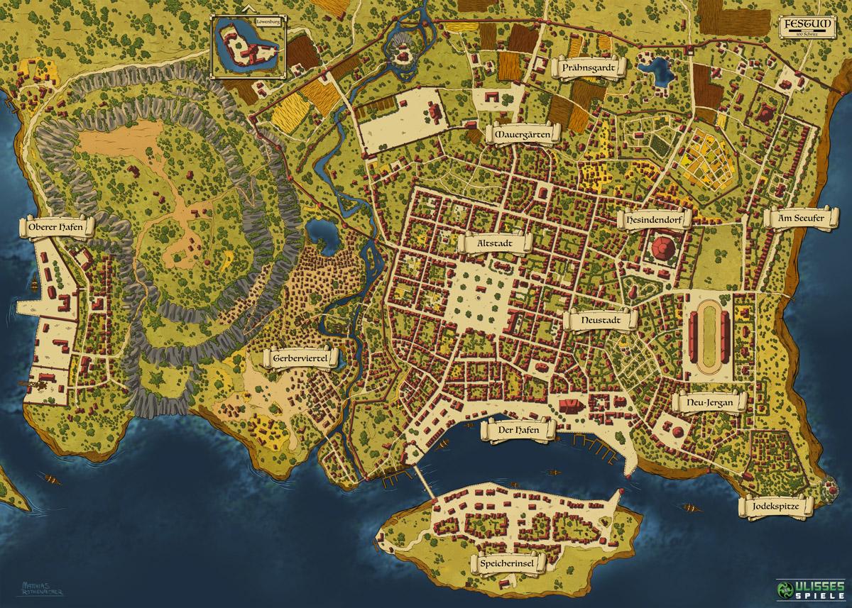 Dsa Karte.Dsa Festum Map On Behance