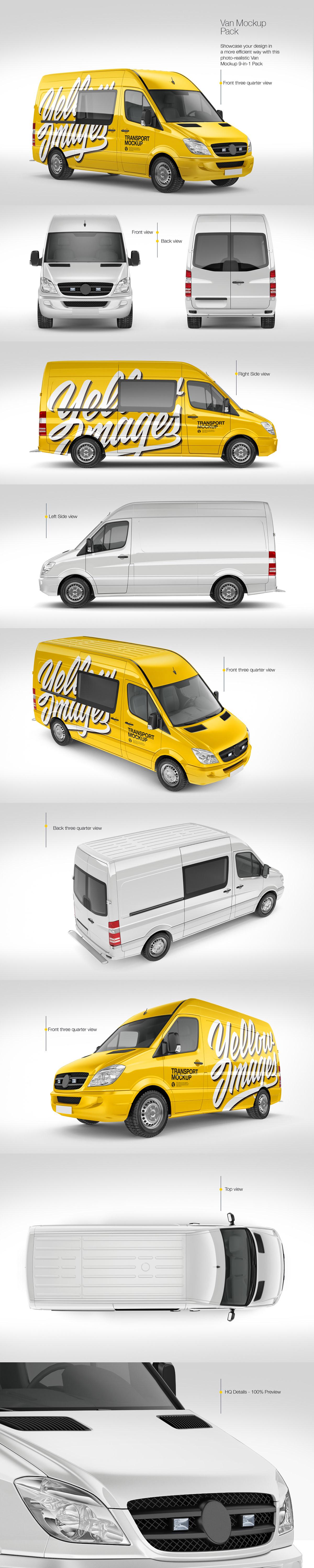 Download Rendering Vehicle For Mock Ups On Behance PSD Mockup Templates