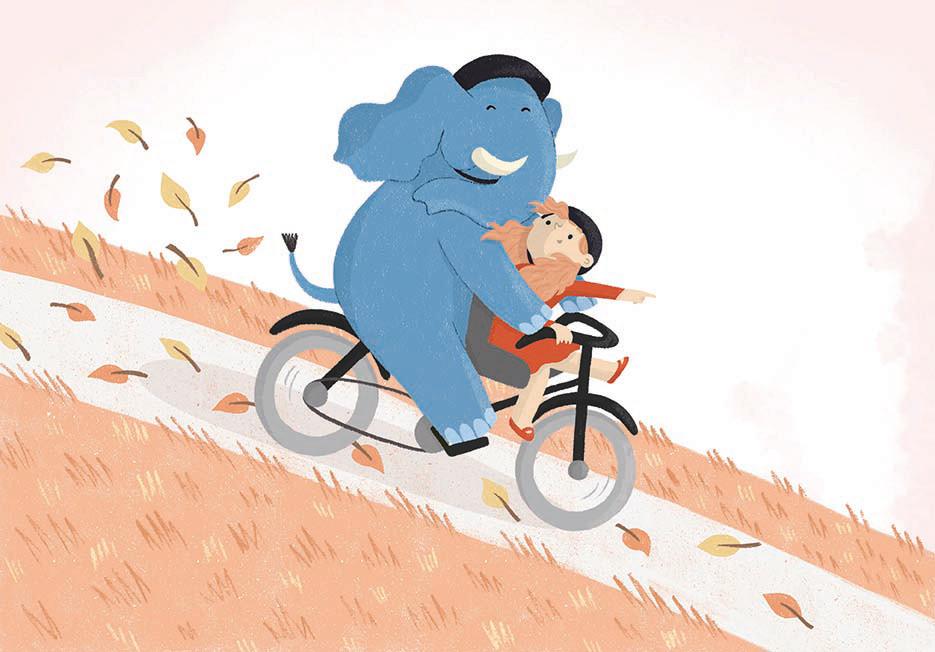 Image may contain: bicycle, cartoon and wheel