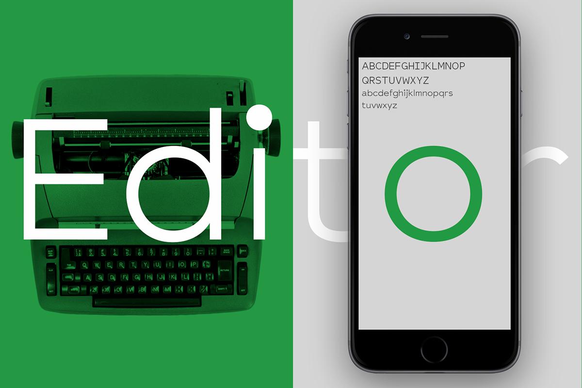 Typeface font type design typewriter
