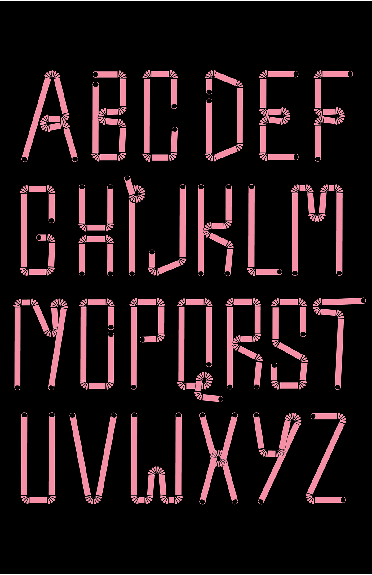 formal exploration graphic design  newly formed type design typography