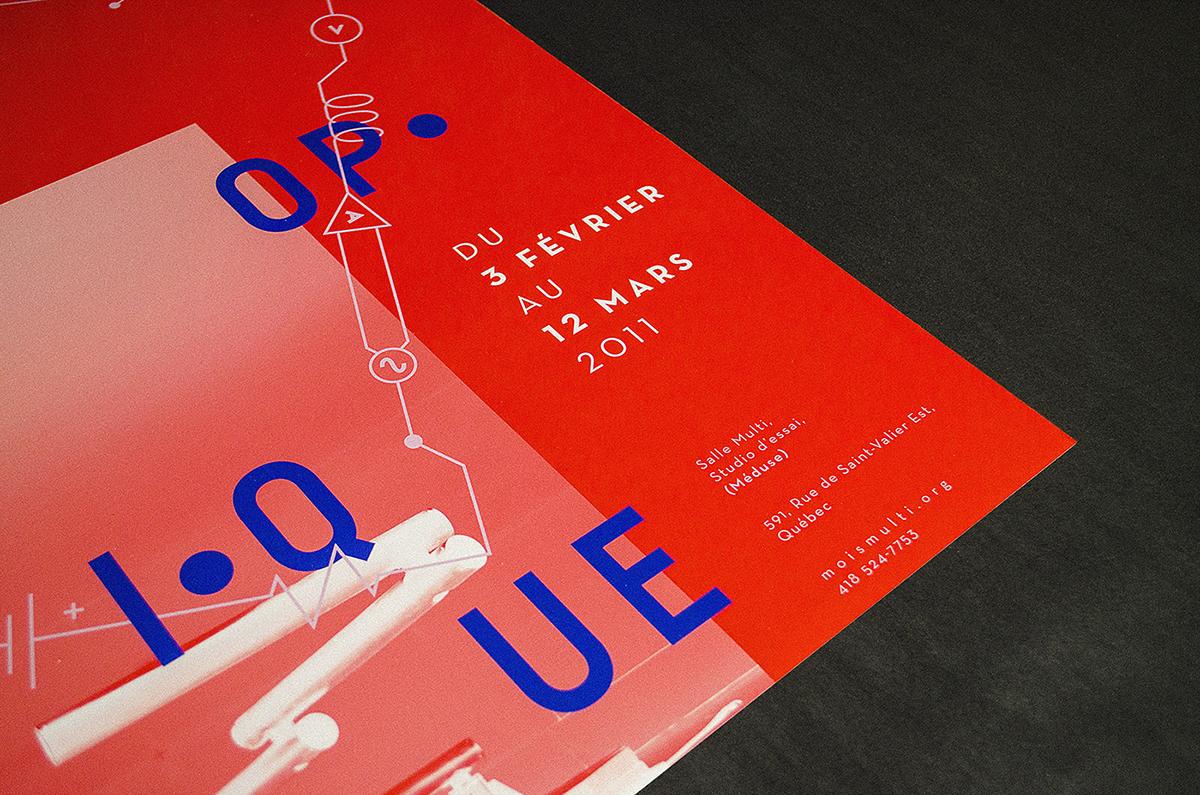 mois multi MM12 affiche poster depliant leaflet brochure branding  identité visuelle Louis Dunnigan Raymond