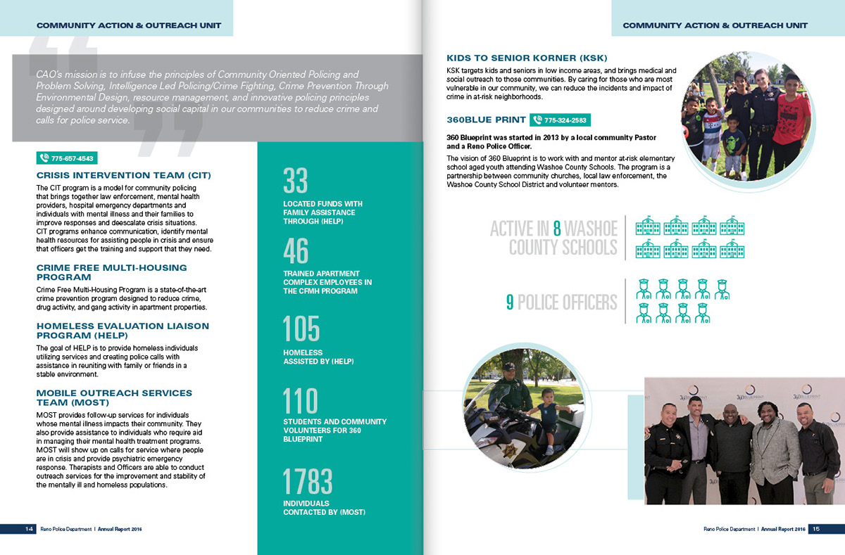 Reno police department annual report 2016 on behance thank you malvernweather Choice Image