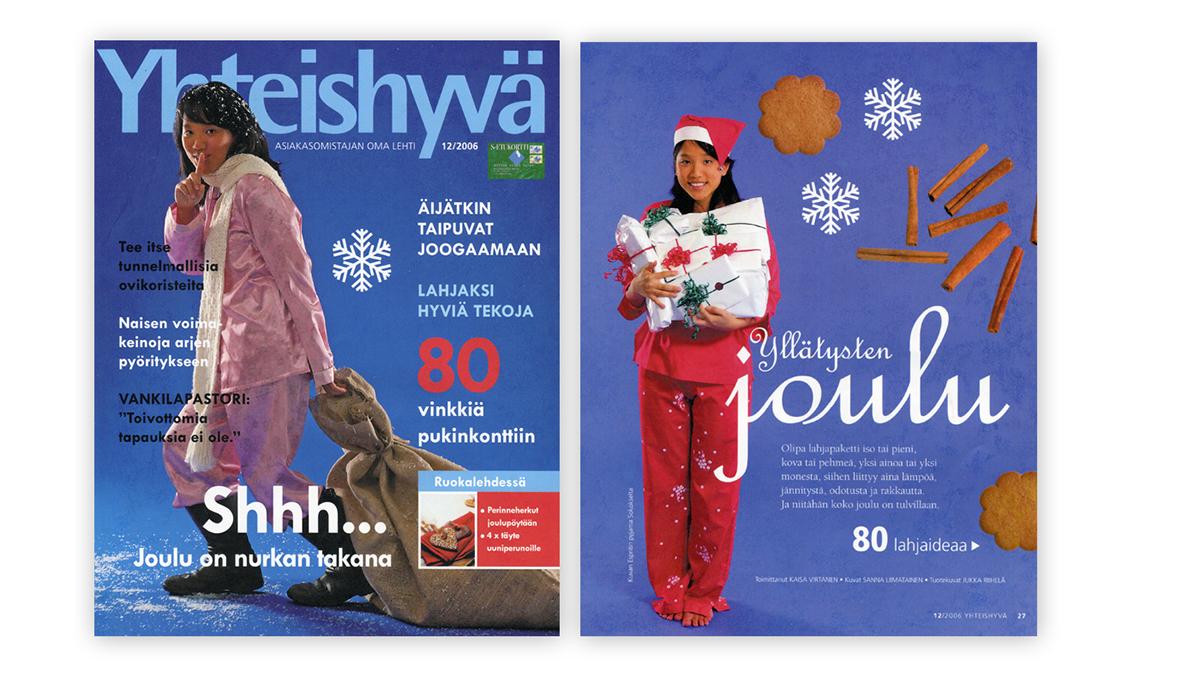 yhteishyvä joulu 2018 Lehtitaittoja/Magazine layouts on Behance yhteishyvä joulu 2018
